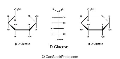 Chemical formulas of glucose