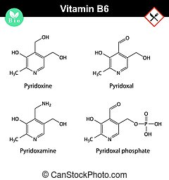 Chemical formulas of vitamin b6 forms