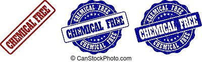 CHEMICAL FREE Scratched Stamp Seals