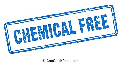 chemical free stamp. square grunge sign on white background