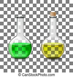 chemical Glass flasks