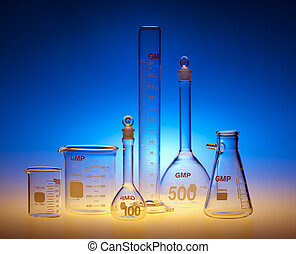 Test-tubes glassware used in chemistry and biology laboratories