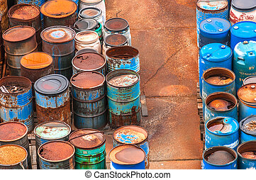 chemical hulladék, lerak, noha, nagyon, közül, hengerek