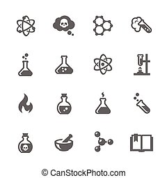 Chemical Icons - Simple Set of Chemical Related Vector Icons...