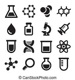 Chemical icons set
