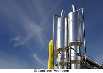 Chemical industry - Elements of industry, under blue sky
