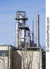 Chemical industry - Industrial building of the chemical...