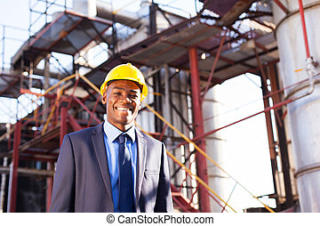 chemical industry manager - happy african American chemical...