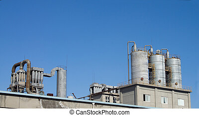 Chemical industry - Metal pipes in chemical plants.