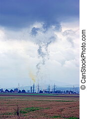Chemical industry pollution - Smoke from chemical industry...