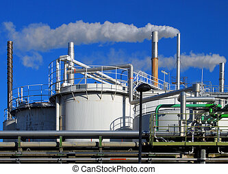 Chemical industry - Tanks and pipes of a chemical plant