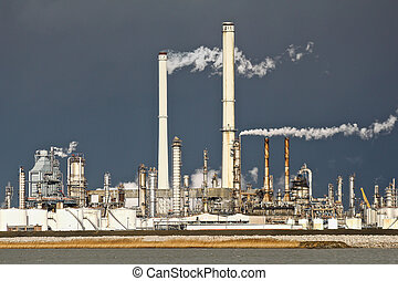 Chemical industry - A large chemical industry site near a...