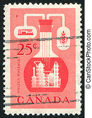 Chemical Industry - CANADA - CIRCA 1956: stamp printed by...