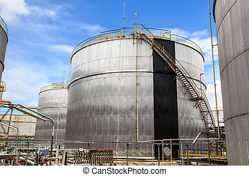 Chemical industry with fuel storage tank
