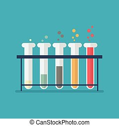 Chemical laboratory equipment test tubes
