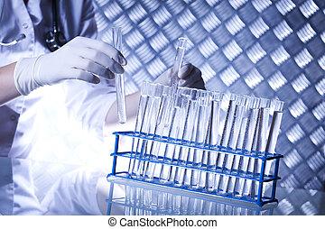 Chemical laboratory, glassware
