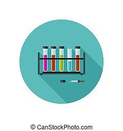 Chemical laboratory icon.
