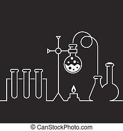 Chemical laboratory - test-tubes
