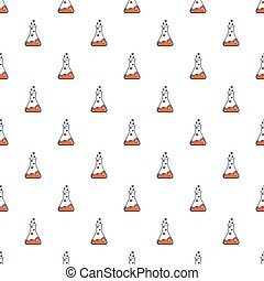 Chemical laboratory transparent flask pattern