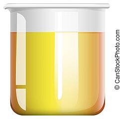 Chemical mixture in beaker illustration
