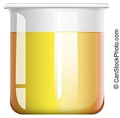 Chemical mixture in beaker illustration