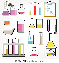 Chemical objects vector illustration