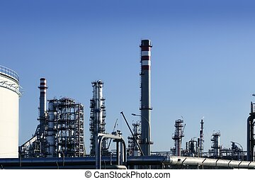 Chemical oil plant equipment petrol distillery skyline