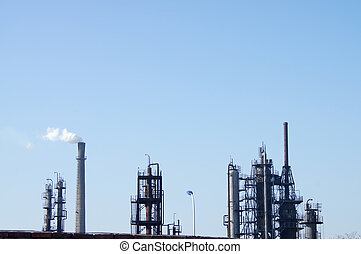 Chemical plant cooling tower - The old petrochemical...