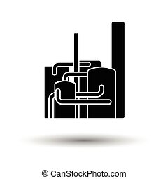 Chemical plant icon