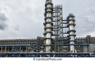 Chemical plant of a factory