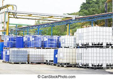 Big Barrels - Chemical Plant, Plastic Storage Drums, Big...