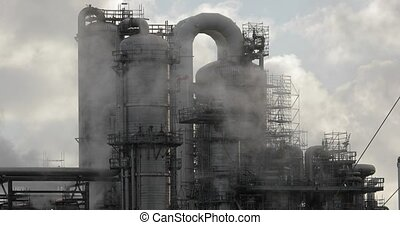 Chemical plant structures, pipes