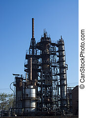 Chemical Plant - The old petrochemical industrial Plant.