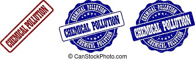 CHEMICAL POLLUTION Grunge Stamp Seals