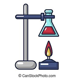 Chemical process icon, cartoon style