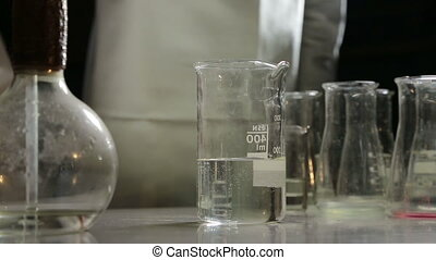 chemical reaction in laboratory HD