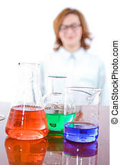 Chemical research and chemistry concept