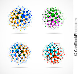 Chemical spheres - Set of molecular structures in the form ...