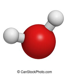 Chemical structure of a water molecule