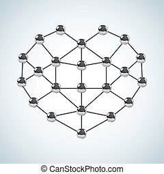 Chemical structure in the form of heart