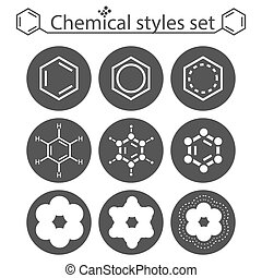 Chemical style icon set