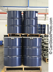 Chemical tank in storage ware house