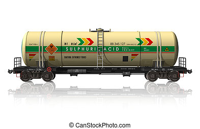 Chemical tanker railroad car