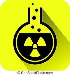 Chemical test tube icon