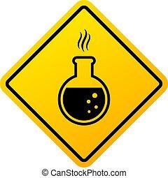 chemicaliën, gevaarsteken, waarschuwend