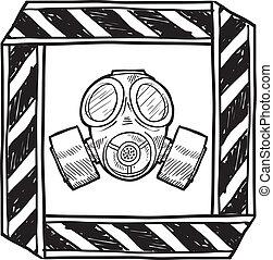 chemiczny, biologiczny, ostrzeżenie, albo