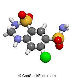 chemiczny, budowa, moczopędny, hydrochlorothiazide, narkotyk...