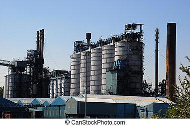 chemiczny, poddawanie procesowi, fabryka
