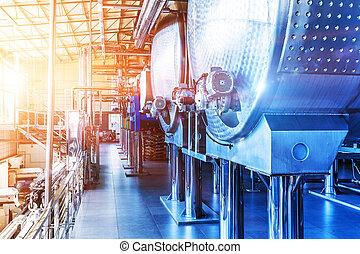 chemiczny, wyposażenie, przemysłowy, fabryczny