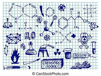 chemie, heiligenbilder